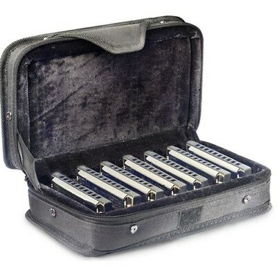 Stagg BJH-B20 Blues Harmonica 7 Piece Set and Case