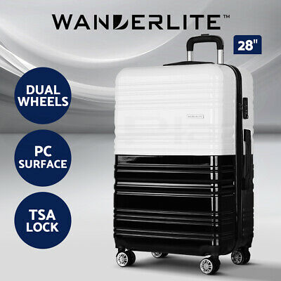Wanderlite 2pc Luggage Sets Travel Suitcases Set TSA Hard Case Free Scale
