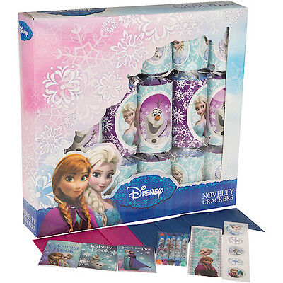 6 x 30CM DISNEY FROZEN CHRISTMAS CRACKERS DINNER TABLE PARTY DECORATIONS 277026