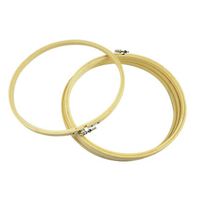 1pcs Practical Cross Stitch Machine Embroidery Hoop Ring Bamboo Sewing 13-26cm