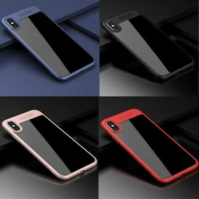 Fashion Hybrid Clear Back Shockproof Case Cover Protector for Apple iPhone (X )