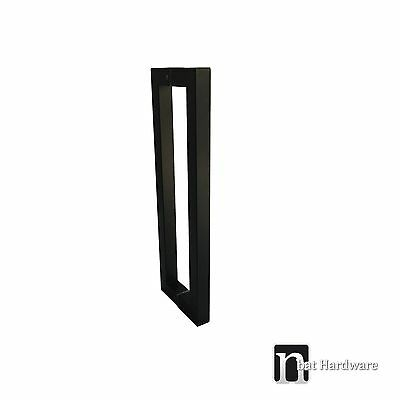 "1 Pair Entrance Door Pull Handles ""Gilchrist"" 400mm - Matt Black Finish"