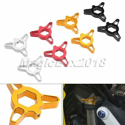 2x 14mm CNC Hexagon Anodized Fork Preload Adjusters for Yamaha YZF-R1 1998-2010