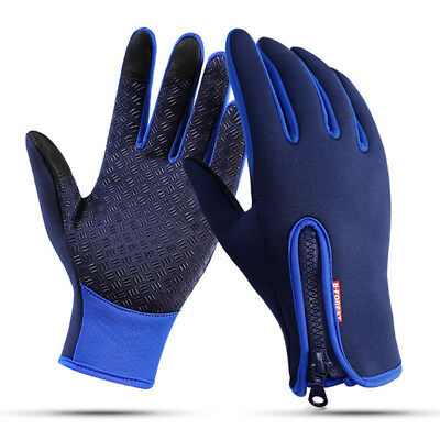 Mens Women Warm Waterproof Touch Screen Fleece Cycling Full Finger Ski Gloves