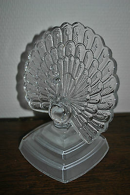 Paon En Cristal D'arques - Peacock Lead Crystal Glass
