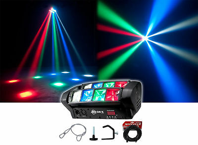 American DJ ADJ ON-X RGBW Dual LED Sweeper Beam DMX Effect Light+Cables+Clamp