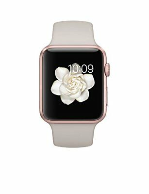Apple 42mm Smart Watch - Rose Gold Case with Stone Sport Band (MLC62LL/A)