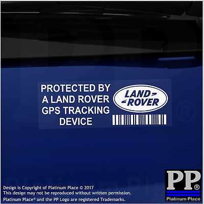 5 x Land Rover GPS EXTERNAL Tracking Device Security Stickers-Car Alarm Tracker