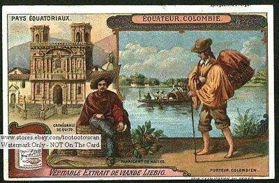 Colombia South America Natives c1914 Trade Ad Card