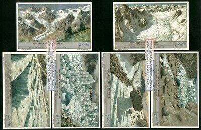 Mountain Glaciers Geology Mountains Rocks Set of 6 1930s Trade Ad Cards