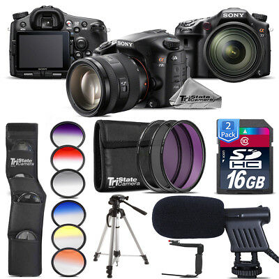 Sony Alpha a77 DSLR + 16-50mm 2.8 + Shotgun Mic + Rotating Bracket - 32GB Kit