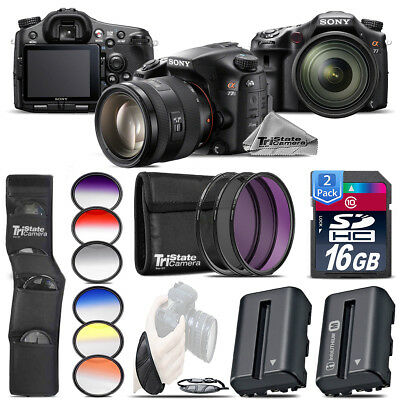 Sony Alpha a77 Camera + Color Filter + Extra Battery + UV-CPL-FLD - 32GB Kit