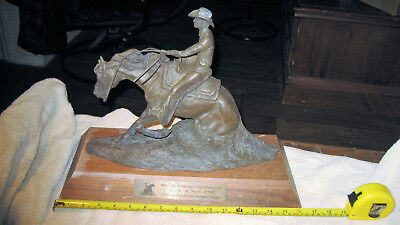 NRHA MIKE JONES LLC Trophy 2007 Horse Cowboy Sculpture Statue C. R. MORRISON
