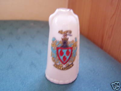 Ullapool Wester Ross Leather Bottle - Crested China