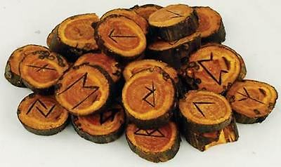 Apple Wood Futhark Rune Set!