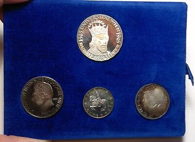 1965 Austria proof silver coin set, 4 coins