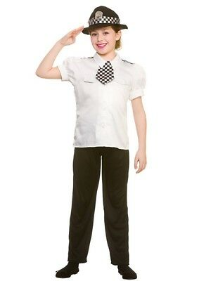 Girls Police Fancy Dress Childs Cop Policewoman Costume WPC Book Week Ages 5-10