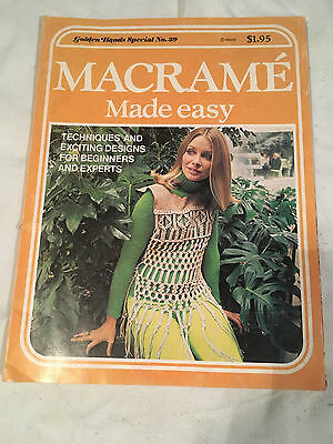 MACRAME MADE EASY Techniques designs GOLDEN HANDS SPECIAL #39 Beginner to expert