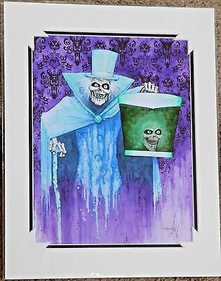 """Disney Matted Print - """"The Infamous Hatbox Ghost"""" - by Kevin-John"""
