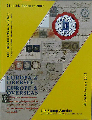 Corinphila 2007 Sale 148 EUROPE & OVERSEAS AUSTRIAN PO ROMANA Auction Catalogue