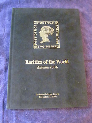 Used Hardcover DAVID FELDMAN Autumn 2004 RARITIES of the WORLD Auction Catalog