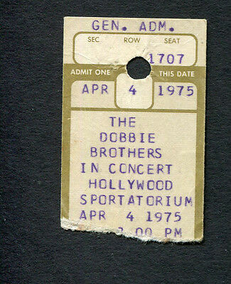 1975 Dobbie Brothers Concert Ticket Stub Hollywood Sportatorium China Grove