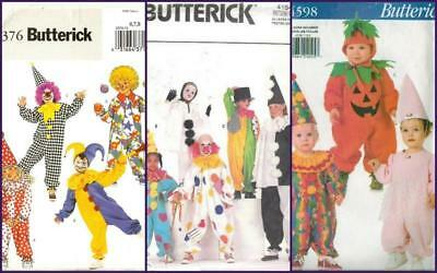 oop butterick patterns clown halloween costume pattern kids toddler you pick