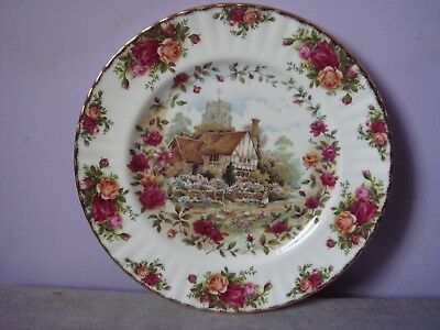 ROYAL ALBERT Bone China OLD COUNTRY ROSES COTTAGE Display PLATE 1988 10.5""