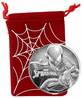 2017 Tuvalu SPIDER-MAN MARVEL SERIES 1 oz Fine Silver Coin