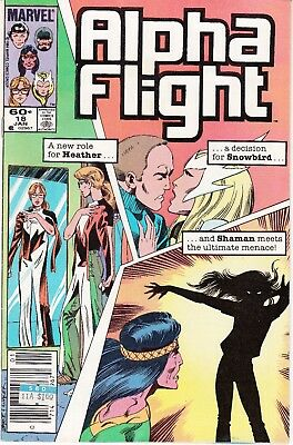 Alpha Flight  #18 1984 ''new Role Heather/snowbird/shaman''  Byrne/ O'neil..vg+