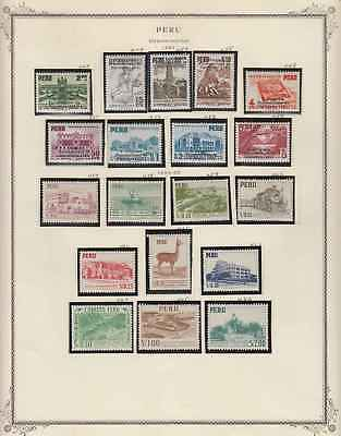 PERU 1951-82 COLLECTION ON 30 ALBUM PAGES Sc 447 to 785 MINT/MNH €344.85+++
