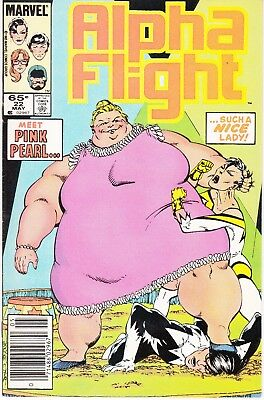Alpha Flight  #22 1985 ''pink Pearl-Not Nice'' -Rub Out Byrne/ O'neil..fn