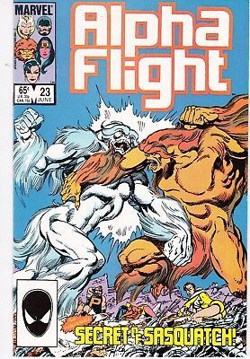 Alpha Flight  #23 1985 ''night Of The Beast-Sasquatch'' Byrne/ O'neil..nm-
