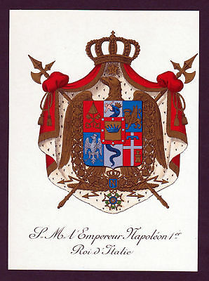 ca.1870 Italien Italy Wappen Adel coat of arms Lithographie antique print 145708