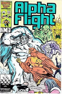 Alpha Flight  #38 1986 ''pestilence'' -Sub-Mariner Attacks Mantlo/ Novak...vf/nm