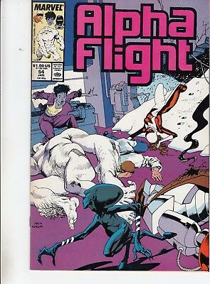 ALPHA FLIGHT  #54 1987 ''GOBLYN'' -PORTACIO-a  MANTLO/ POTTS...VF