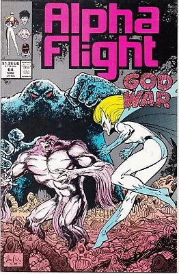 Alpha Flight  #64 1988 ''god War'' -A Will,there's A Way  Mantlo/ Potts...vf/nm