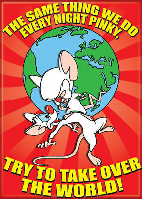 Pinky & The Brain Photo Quality Magnet: Try to Take Over The World!