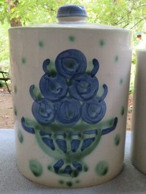 Mary M.A. Hadley Bouquet Large 9 Inch Covered Canister Cookie Goodies Jar