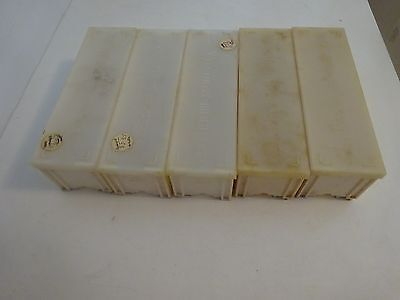5 BRAUN PAXIMAT 36 SLIDE MAGAZINES FOR 35mm SLIDES---APPROX. 50-60 YEARS OLD