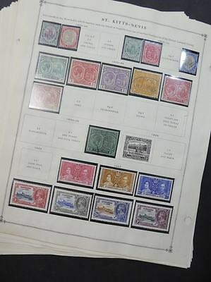 EDW1949SELL : ST LUCIA & ST KITTS Mint & Used collection on album pages.