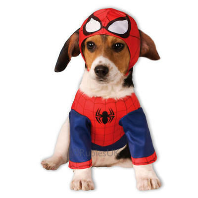 Pet Dog Spiderman Costume Rubies Costume Dress Avengers Halloween Outfit S