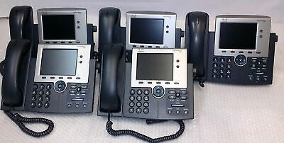 Lot of 5 Cisco CP-7945G POE Color Display Unified IP VoIP Business Telephone