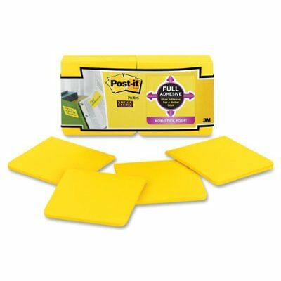 Post-it Super Sticky Full Adhesive Notes, 3 x 3-Inches, Electric Yellow,