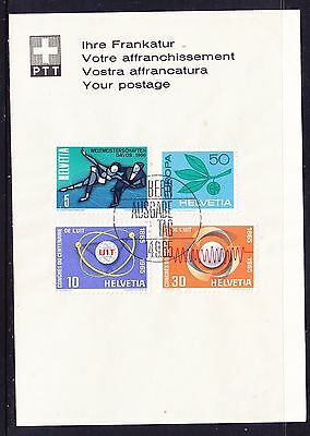 Switzerland 1965 Issues on Card