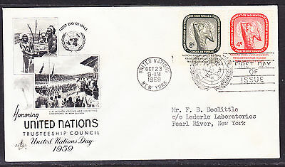 "United Nations 1959  ""Artcraft""  - Trusteeship Council  FDC addressed"