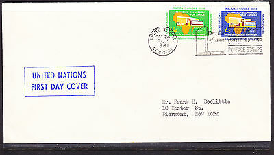 United Nations 1961 Economic Comm Africa  First Day Cover addressed