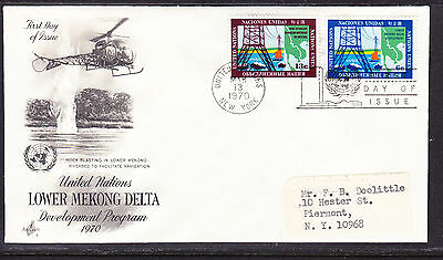 "United Nations ""Artcraft"" 1970 - Lower Mekong Delta  FDC addressed"