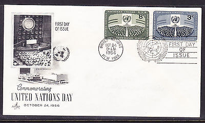 "United Nations 1956 ""Artcraft"" - U.N. Day First Day Cover addressed"