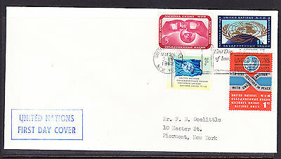 United Nations 1962 Issues  First Day Cover addressed